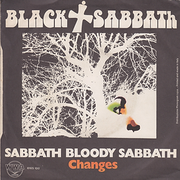Black Sabbath - Sabbath Bloody Sabbath / Changes - Italy - Vertigo 6165 100 - 1973 - Back