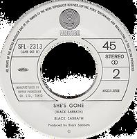 Black Sabbath - Never Say Die / She's Gone - Japan - Vertigo SFL-2313 - 1978 - Side 2