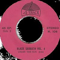 Black Sabbath - Wheels Of Confusion / Under The Sun - Thailand - 4 Track - M.106 - 197?- side 2