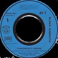 Black Sabbath - Tomorrow's Dream / Laguna Sunrise -France -  Vertigo 6059 061-1972 - Side 1