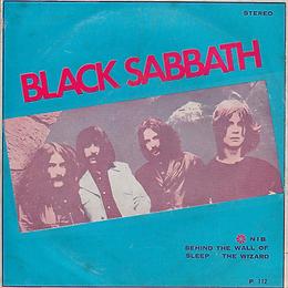 Black Sabbath - N.I.B. / Behind The Wall Of Sleep / The Wizard - Thailand - HHH P.112 - 197?- Front