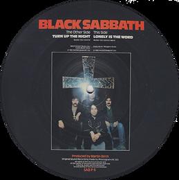 Black Sabbath -Turn Up The Night / Lonely Is The Word - UK - Vertigo SAB 6 P - 1982 (Picture Disc) - Side 2