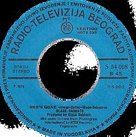 Black Sabbath  - Gypsy / She's Gone - Yugoslavia - Radio-Televizija Beograd 6079 102 (S54 008) - 1976 - Side B