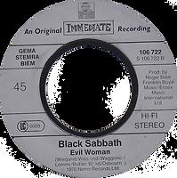 Black Sabbath - Paranoid / Evil Woman - Netherlands  - Ariola 106.722 - 1983 - Side 2