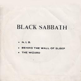 Black Sabbath - N.I.B. / Behind The Wall Of Sleep / The Wizard - Thailand - TKR -036 - 197?- Back