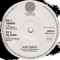 Black Sabbath - Paranoid / The Wizard - Netherlands - Vertigo 6059 010- 1970 - Side 2