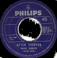 Black Sabbath - Sweet Leaf / After Forever - Phillipines - Philips PHI-1188- 197? - Side 2