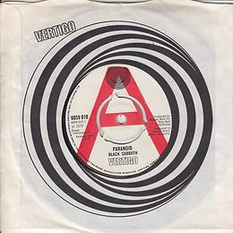 Black Sabbath - Paranoid / The Wizard (Demo) - UK - Vertigo 6059 010 - 1970