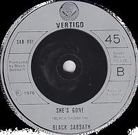 Black Sabbath - Never Say Die / She's Gone - UK - Vertigo SAB 001 - 1978 - side 2
