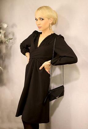 Robe Penelope noire dentelle