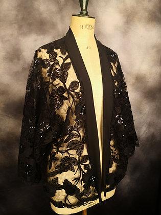 Kimono tulle brodé paillette