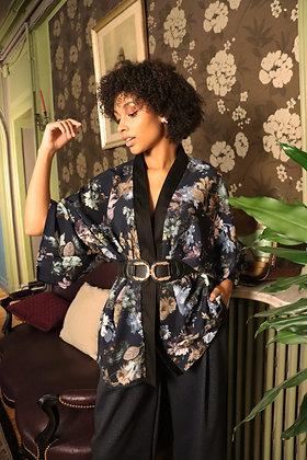 Kimono chinese blue