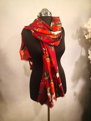 Chèche Rosalis rouge
