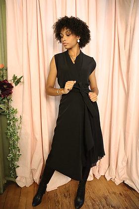 Robe Antonia plissée noire
