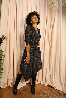 Robe Abril blue panther