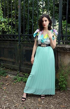 Robe papillon bleu lagon