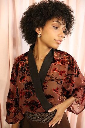 Kimono velours dévoré
