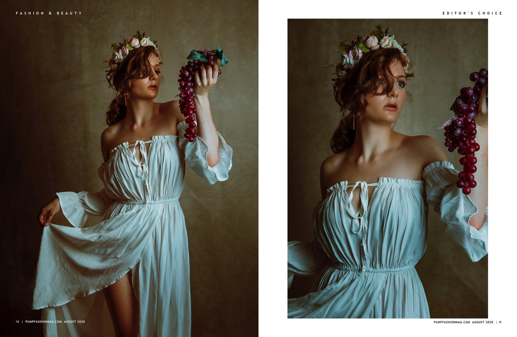 PUMP Magazine  Summer 2020  The Floral Edition   Vol.2,pgs. 16-23  Modern Renaissance by Neisha T. Ford