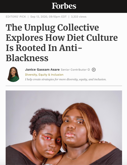 The Unplug Collective in Forbes