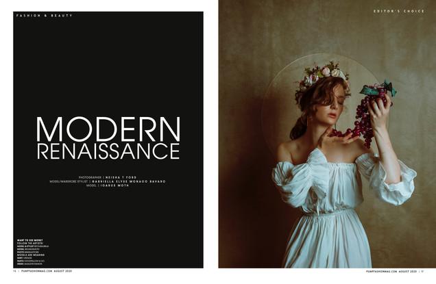 PUMP Magazine  Summer 2020  The Floral Edition | Vol.2,pgs. 16-23  Modern Renaissance by Neisha T. Ford