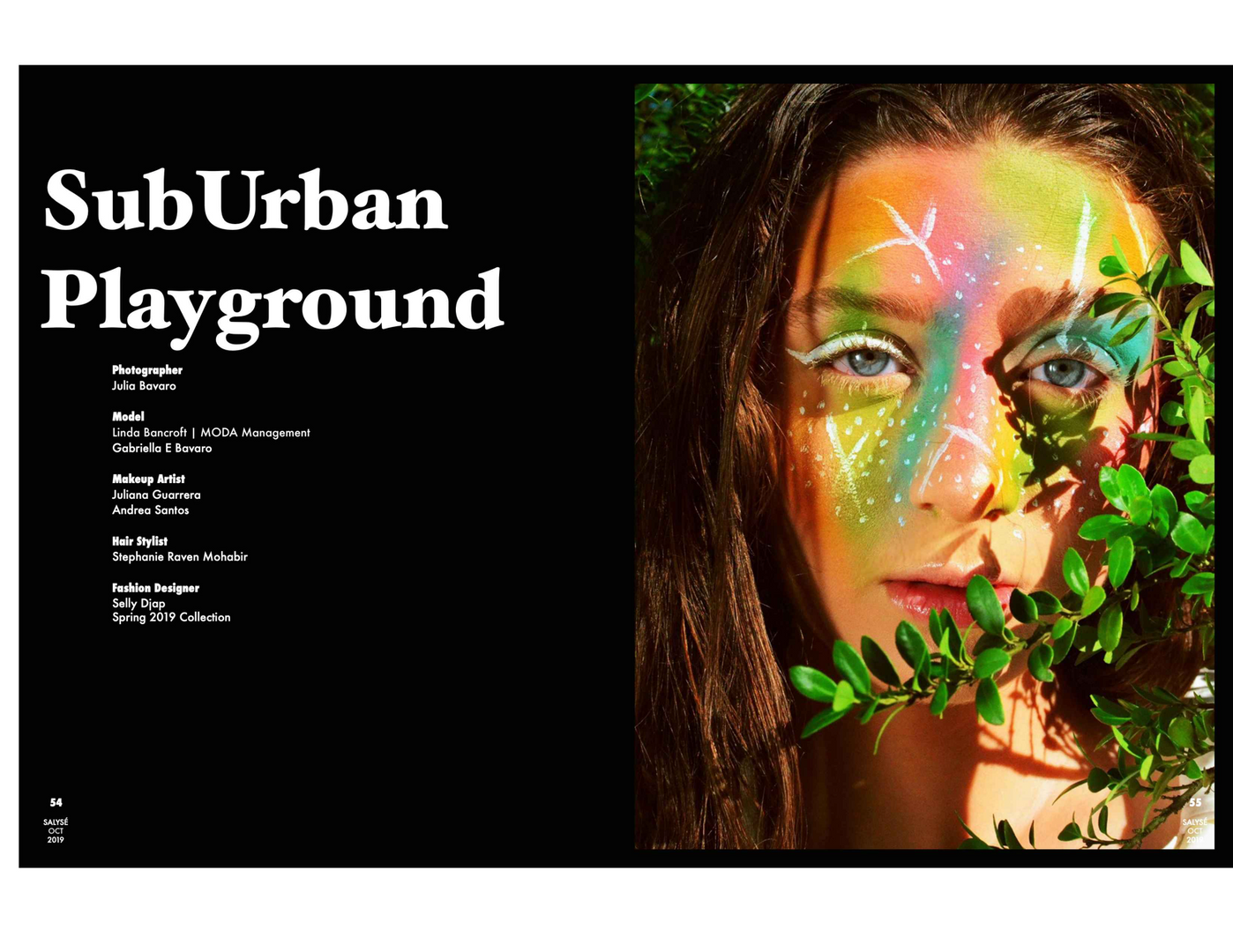 SALYSÉMagazine  Vol.5 Number 103, pgs. 54-65  SubUrban Playground by Julia Bavaro