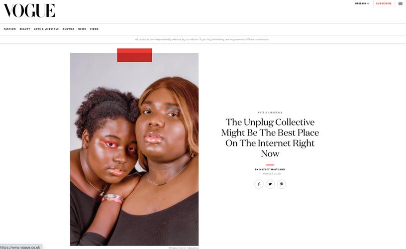 The Unplug Collective in British Vogue