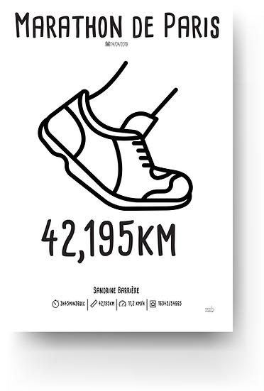 Marathon de Paris 2019 - 42,195km