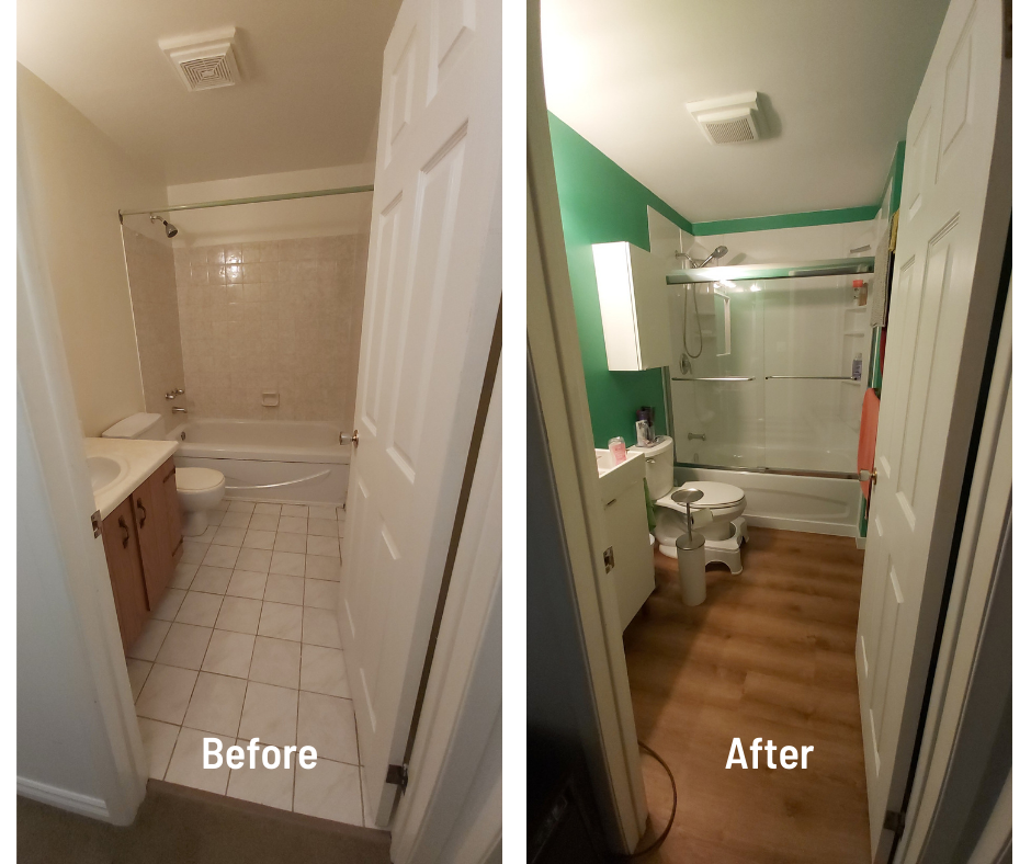 Green Bathroom Reno