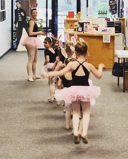 Preschool dancers dressed like bunnies