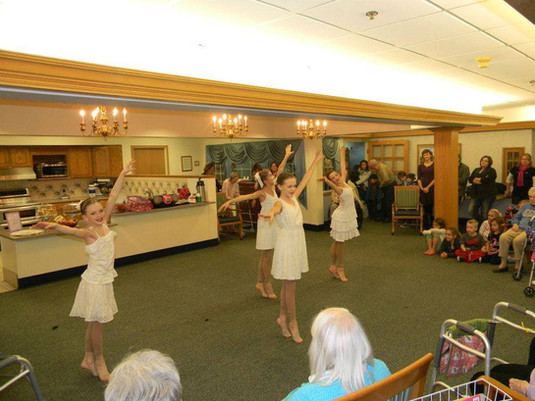 Dancers performing at Omaha Nursing home