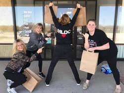 Teachers outside of Mary Lorraine's Dance Center in Omaha, NE