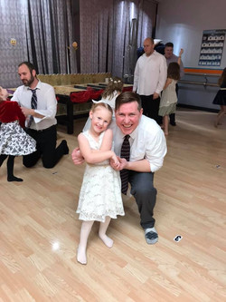Dad and Daughter at the dance at Mary Lorraine's Dance Center