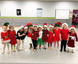 Preschool dance class at Christmas time