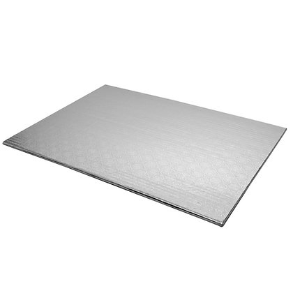 "O'Creme Rectangular Silver Foil Cake Board, 1/4"" Thick"