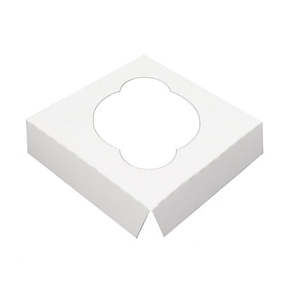 O'Creme White Cardboard Insert for Cupcake, 1 Cavity, Case of 200