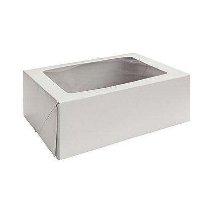 O'Creme White Rectangular Cake Box, Quarter Size
