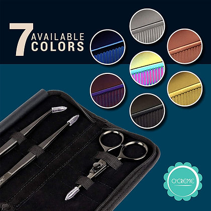 O'Creme Stainless Steel Tweezers & Scissors, Set of 3