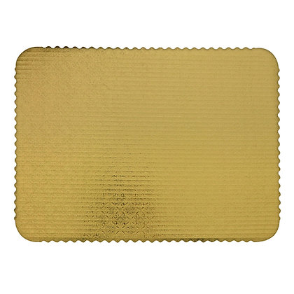 Gold Rectangular Corrugated Cake Board - Pack of 10