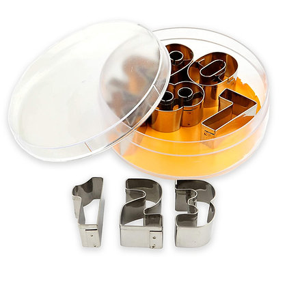 O'Creme Stainless Steel Number Cookie Cutter Set