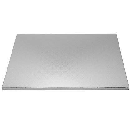 "O'Creme Rectangular Silver Foil Cake Board, 1/2"" Thick"