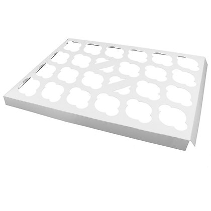 O'Creme White Cardboard Insert for Mini Cupcakes, 24 Cavities