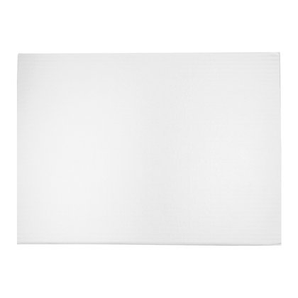 "O'Creme Rectangular White Foil Cake Board, 1/2"" Thick"