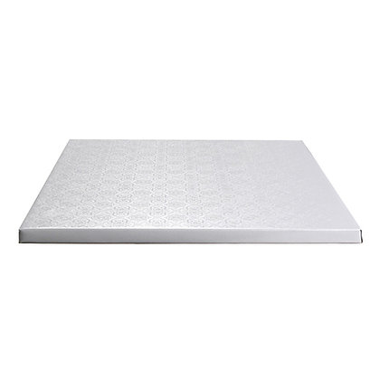 "O'Creme Square White Cake Drum Board, 1/2"" Thick"