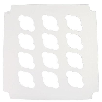 O'Creme White Cardboard Insert for Mini Cupcakes, 12 Cavities