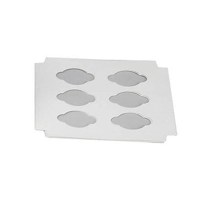O'Creme White Insert for Cupcakes, 6 Cavities
