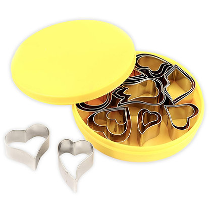 O'Creme Mini Heart Cookie Cutter Set, 24 Pcs.