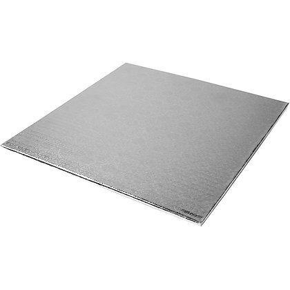 """O'Creme Square Silver Cake Drum Board, 1/4"""" Thick"""