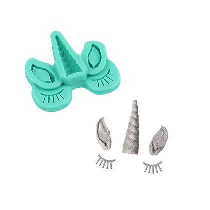 O'Creme Unicorn Ears, Horn & Lashes Gumpaste Mold