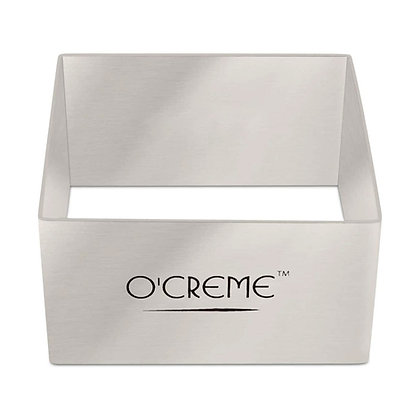"O'Creme Square Cake Ring 3-1/4"" x 1-3/4"" High (80mm x 45mm High)"