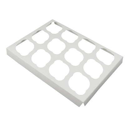 O'Creme White Cardboard Insert for Cupcakes, 12 Cavities
